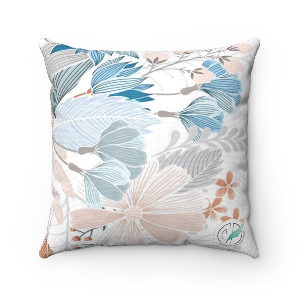 Natural Blooms Polyester Square Pillow