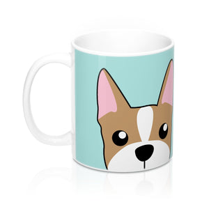 Paw Prints Frenchie Teal Mug 11oz