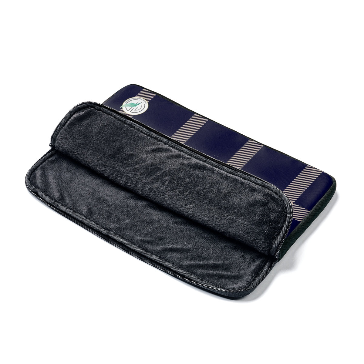 Holiday Blue Plaid Laptop Sleeve