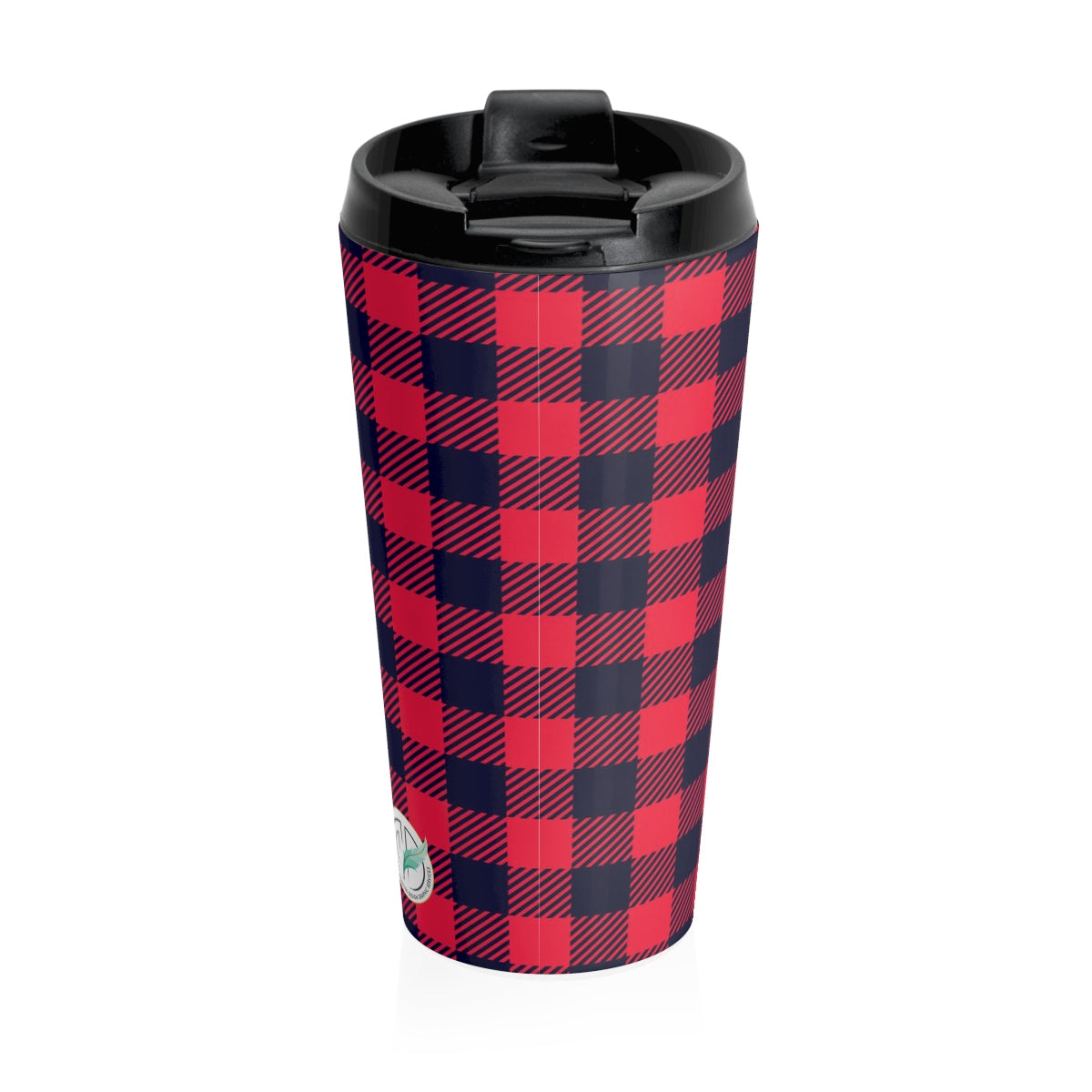 Holiday Plaid Stainless Steel Travel Mug