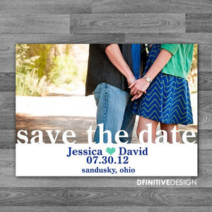 Horizontal Photo Save The Date / Announcement