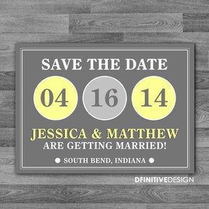 Modern Circle Save The Date / Announcement