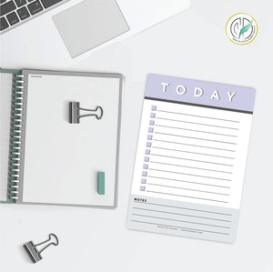 Lavender Daily Checklist Printed Planner Notepad