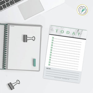 Mint & Marble Daily Checklist Printed Planner Notepad