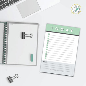 Mint Daily Checklist Printed Planner Notepad