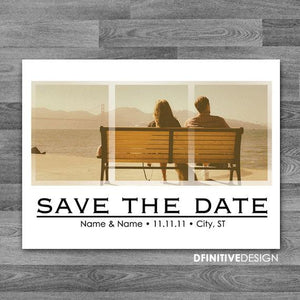 Faux Triptych Save The Date / Announcement