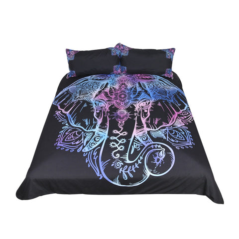 Bohemian Multi-Color Elephant bedding Set