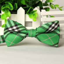 Casual Plaid Cotton Bow Tie