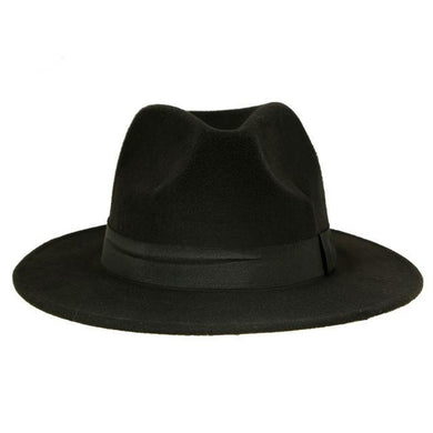 Classic Wool Fedora with Black Band