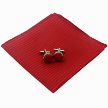 Stunning Pocket Square Set with Cufflinks