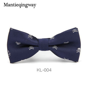 Men's Polyester Skull Bow Tie