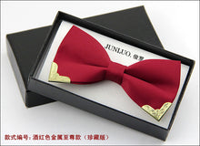 Fashion Luxury Men Bow Tie with Metal head
