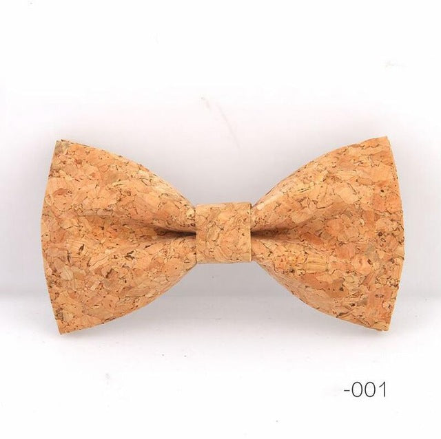 Cork Wood Handmade Wooden Bowtie