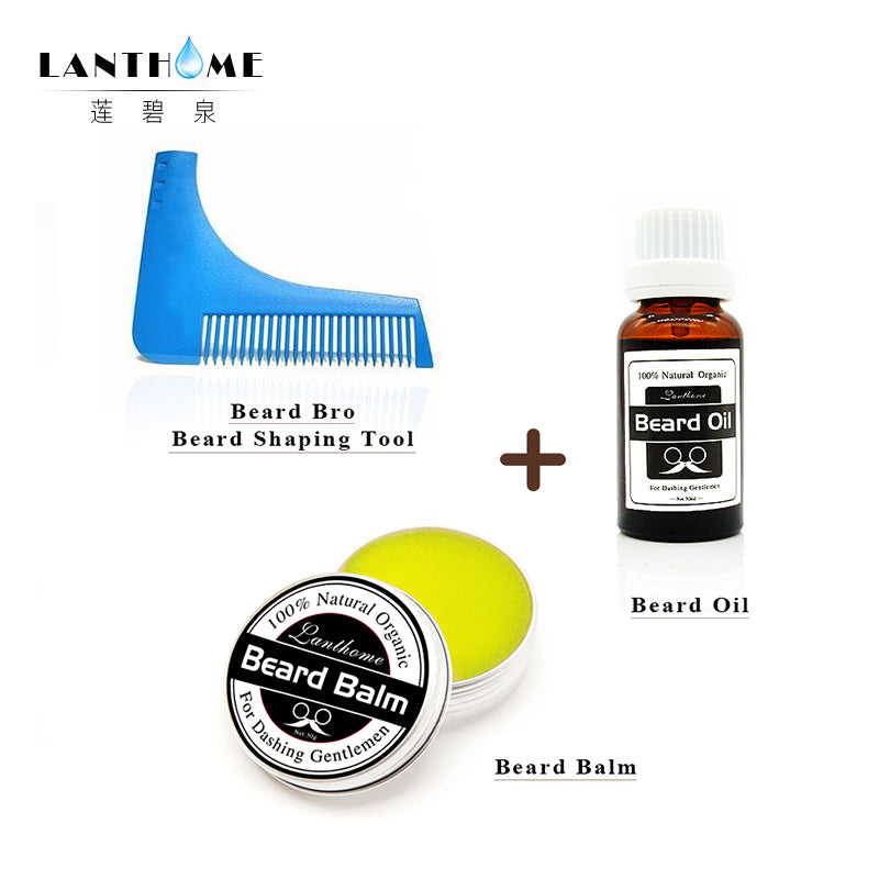 Organic Beard Balm with Comb Set