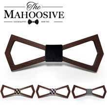 Casual Geometric Wooden Bowtie