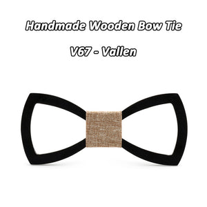 Stylish Engraved Wooden Bowtie