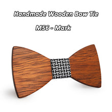 Casual Retro Wooden Bowtie