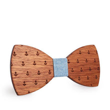 Classic Anchor Wooden Bowtie