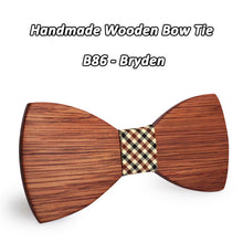 Simple Business Style Wooden Bowtie