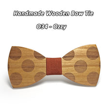 Classic Dotted Wooden Bowtie