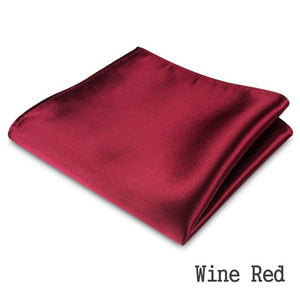 Men's Formal Satin Plain Color Handkerchief