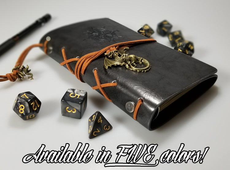 D&D Journal w/ Dragon Charm, Refillable