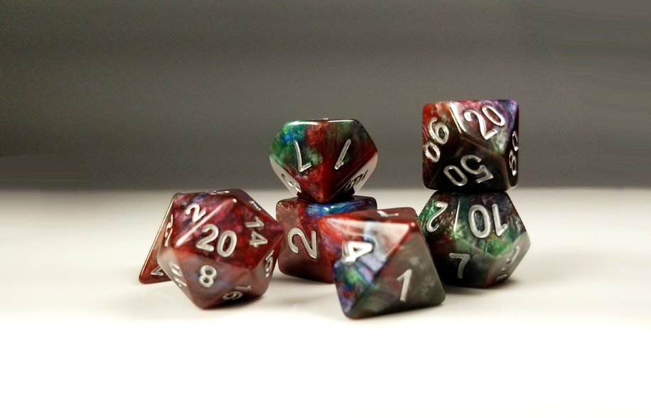 D&D Dice Set / Red Green Blue