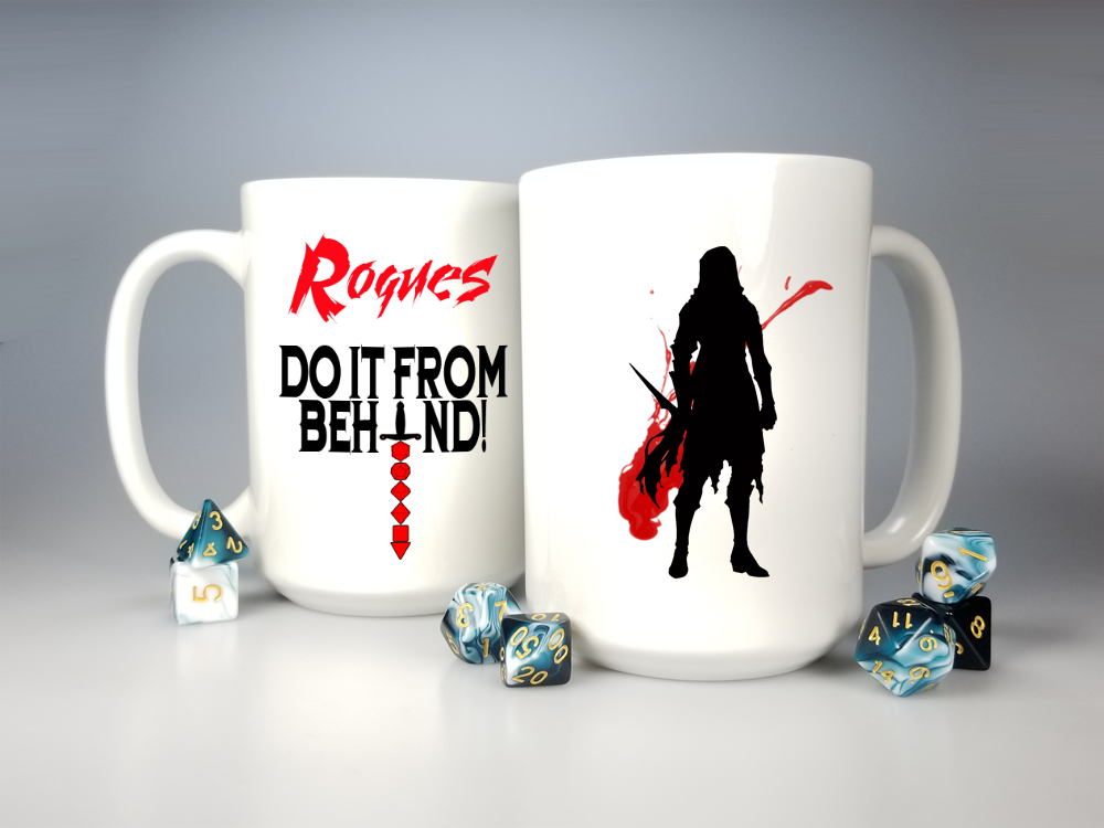 Dd Coffee Mug Rogues Do It From Behind Large 15oz Cup