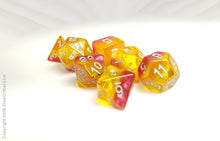 "Load image into Gallery viewer, D&D Dice Set: ""Passion Fruit Ration"" / Dungeons and Dragons dice set"