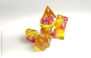 "D&D Dice Set: ""Passion Fruit Ration"" / Dungeons and Dragons dice set"