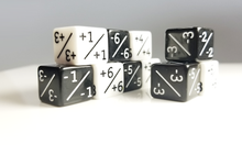 Load image into Gallery viewer, Magic Counter Dice x10: 5x +1/+1 +6/+6 and 5x -1/-1 -6/-6, Positive Negative Counters