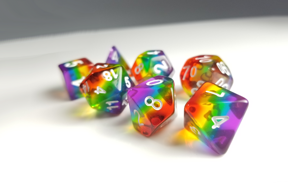 DnD Dice Set / Rainbow ROYGBIV