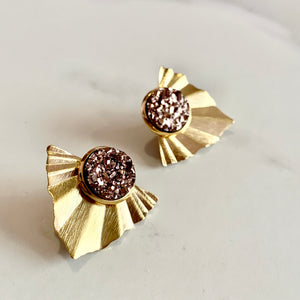 ARA EAR JACKERS - gold and silver