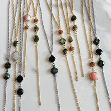 Load image into Gallery viewer, Gemstone Lariat Necklace
