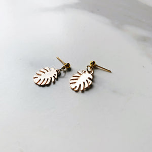 Minimalist Leaf Earrings