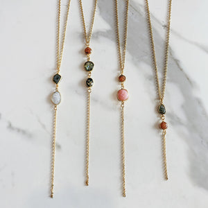 LOGOS LARIAT NECKLACE