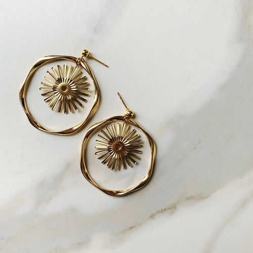 Golden Cosmos Earrings