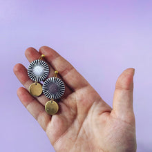 Load image into Gallery viewer, Mixed Metal Sunburst Earrings