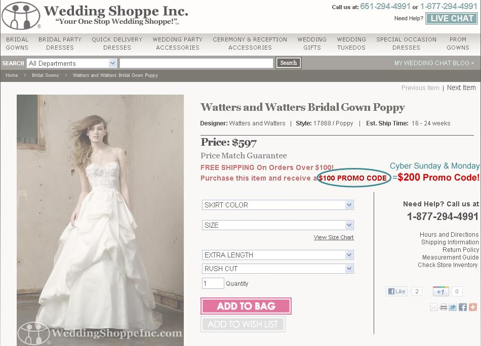 online bridal store coupon code example