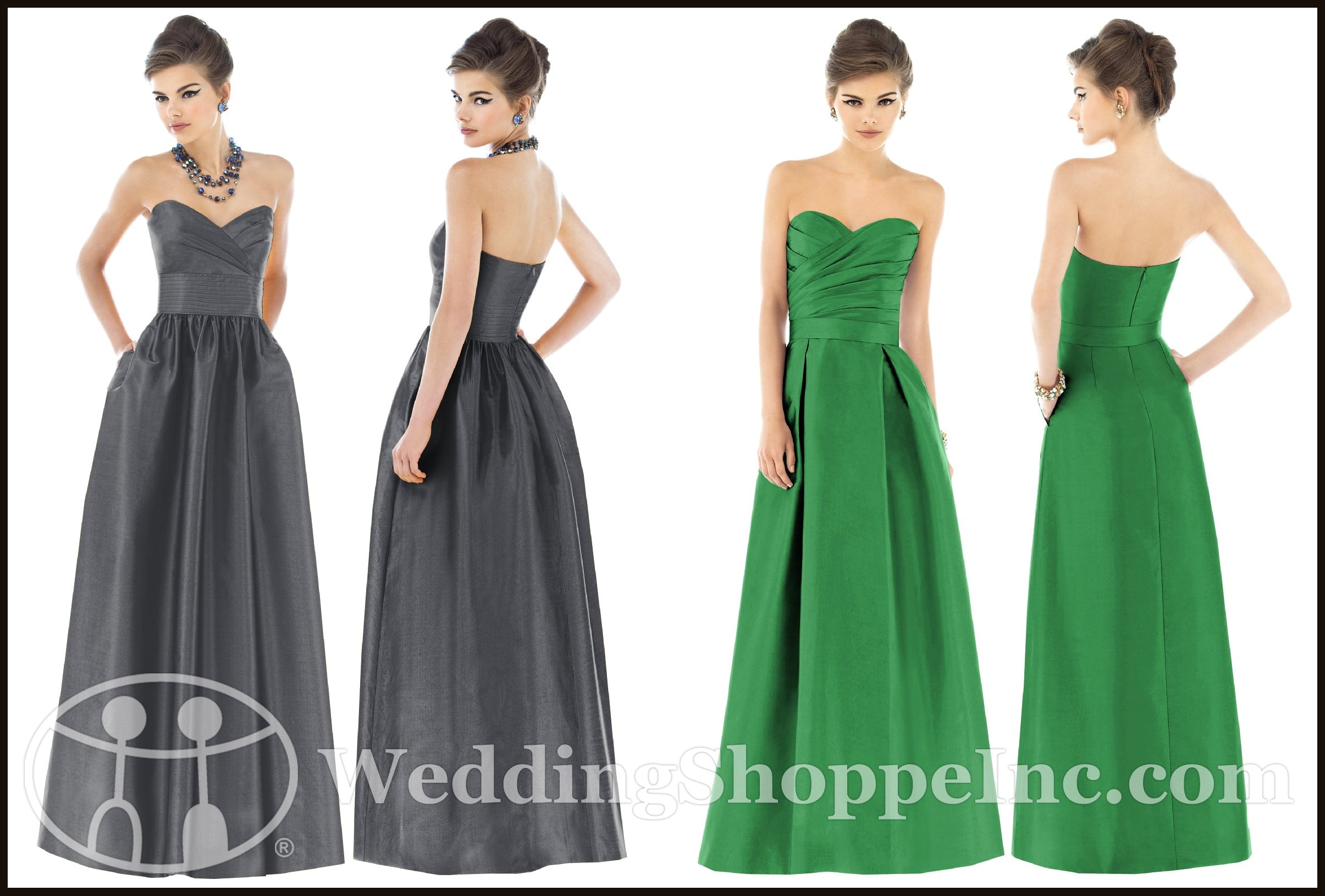 Popular Bridesmaid Gowns Featuring Alfred Sung Dresses