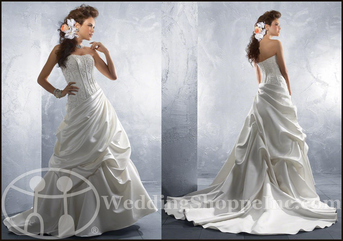 Alfred Angelo corset dress with pickups