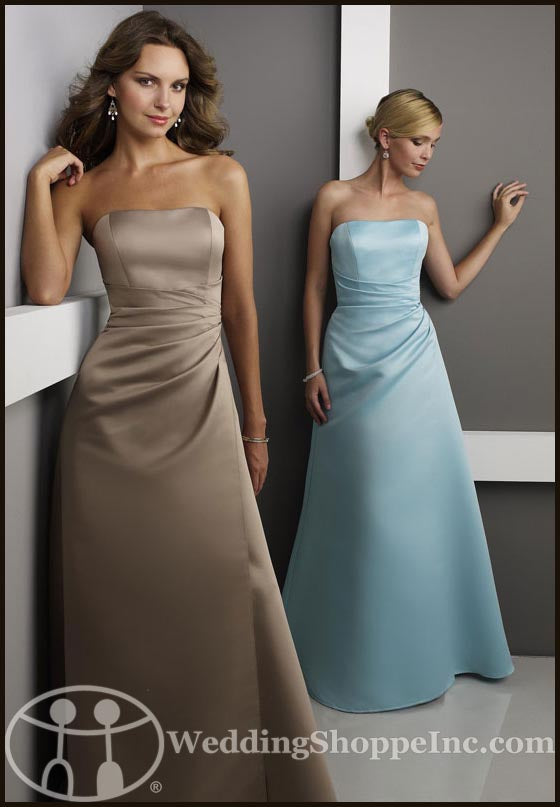 inexpensive bridesmaid gowns: Mori Lee 229