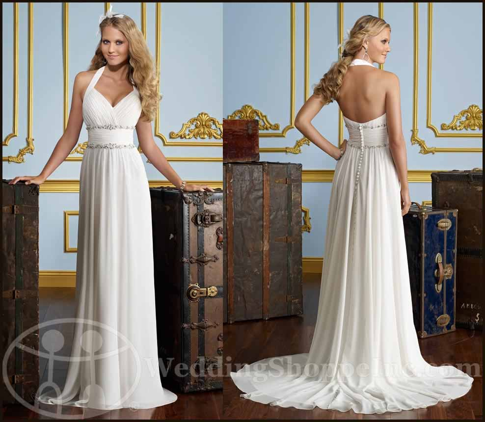 Grecian wedding dresses: Mori Lee 6724