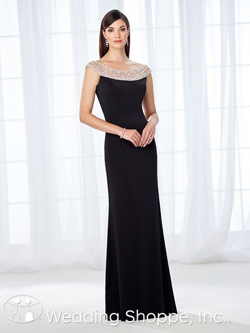 Black Floor Length MOB Dress