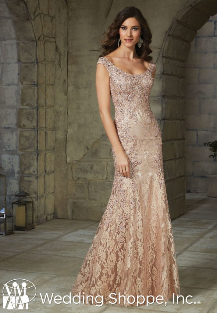 Lace Floor Length Mother of the Bride Dress