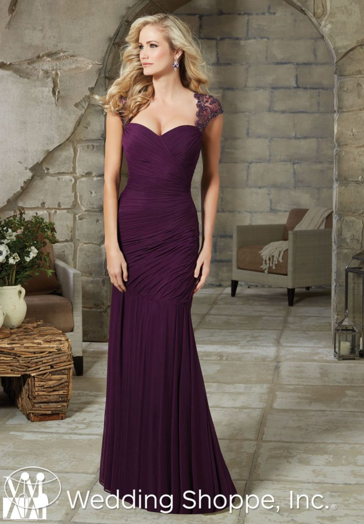 Cap Sleeve Floor Length Mother Of Bride Dress