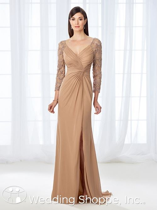 Long Sleeve Floor Length MOB Dress