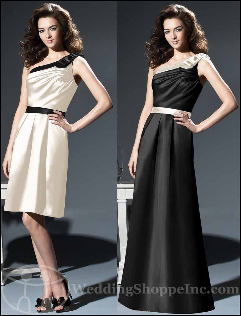 Black and White Bridesmaid Dresses: Dessy 2807