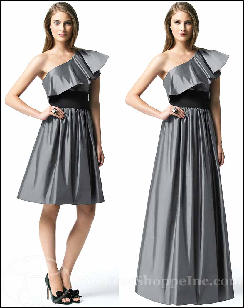 Black and White Bridesmaid Dresses: Dessy 2838 and 2839
