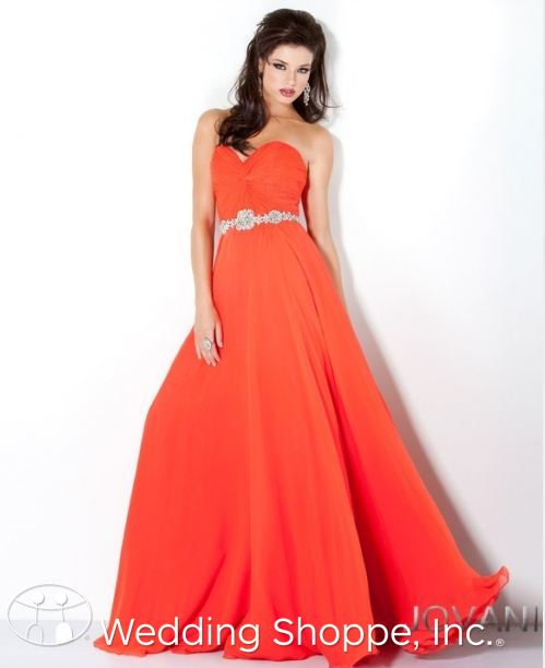 Jovani Orange Prom Dress
